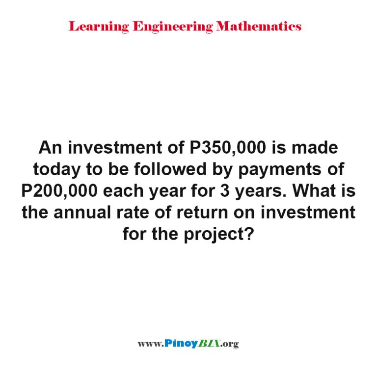 20 Percent Return On Investment