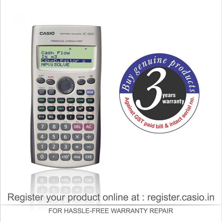 Cash Flow On Financial Calculator