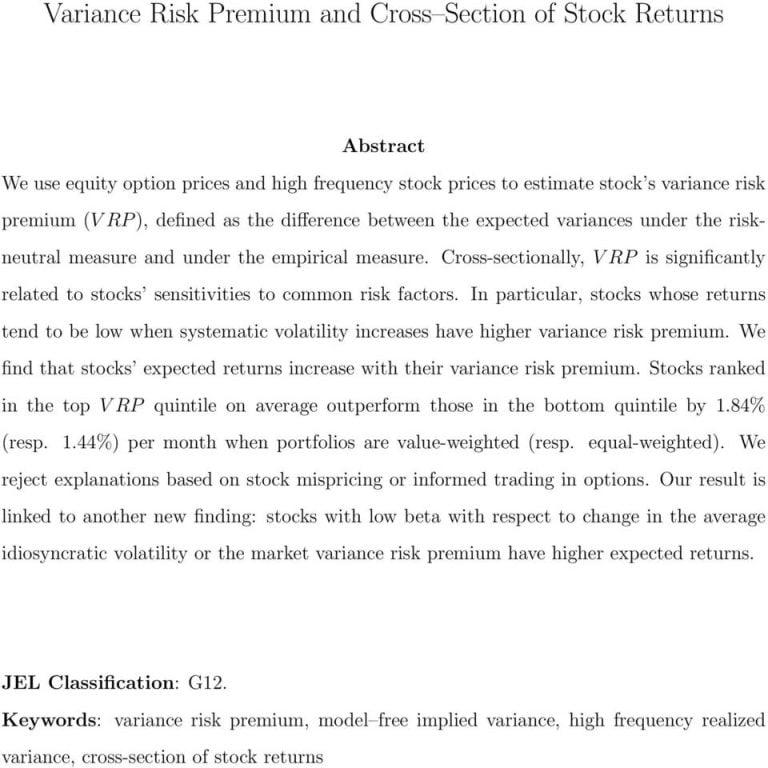 Expected Volatility