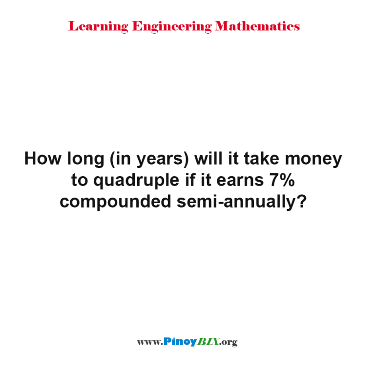At 5 Percent Interest, How Long Does It Take To Quadruple Your Money