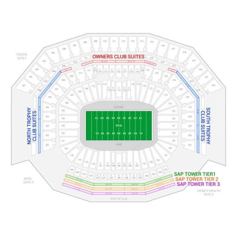 Bank Of America Stadium Virtual Seating Chart