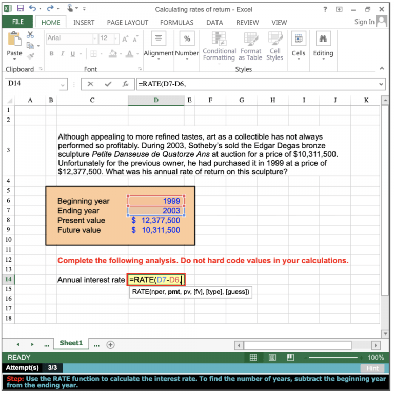 Calculating Rate Of Return In Excel